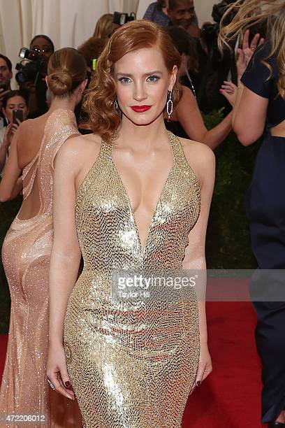 Actress Jessica Chastain attends China Through the Looking Glass the 2015 Costume Institute Gala at Metropolitan Museum of Art on May 4 2015 in New...