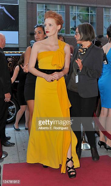 Actress Jessica Chastain attends Coriolanus Premiere at The Elgin during the 2011 Toronto International Film Festival on September 12 2011 in Toronto...