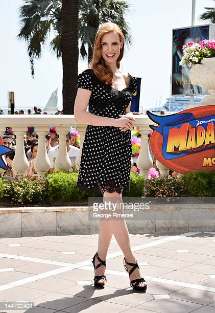Actress Jessica Chastain attends 'Madagascar 3' Photo Op during the 65th Annual Cannes Film Festival at the Carlton Hotel on May 17 2012 in Cannes...