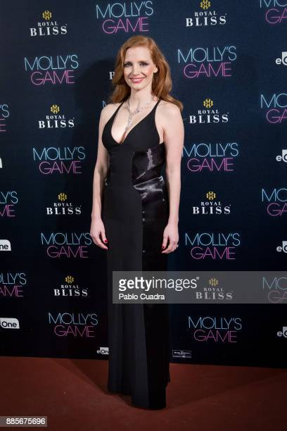 Actress Jessica Chastain attends 'Molly's Game' Madrid premiere at Callao Cinema on December 4 2017 in Madrid Spain