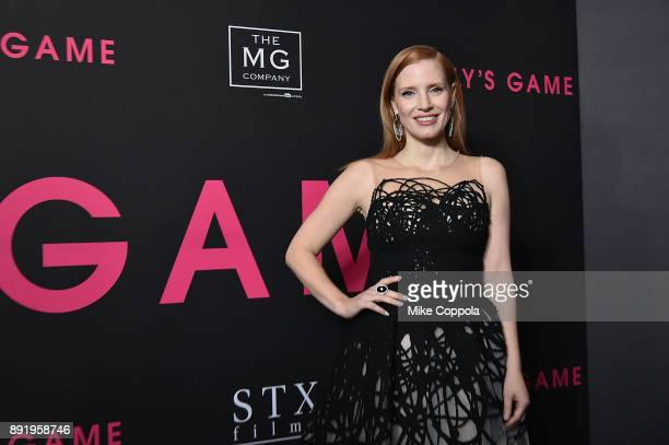 Actress Jessica Chastain attends 'Molly's Game' New York Premiere at AMC Loews Lincoln Square on December 13 2017 in New York City