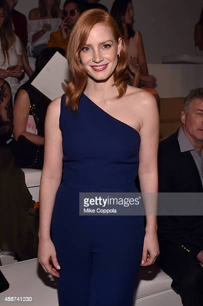 Actress Jessica Chastain attends Ralph Lauren Spring 2016 during New York Fashion Week The Shows at Skylight Clarkson Sq on September 17 2015 in New...