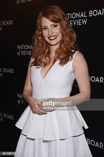 Actress Jessica Chastain attends the 2014 National Board of Review Gala at Cipriani 42nd Street on January 6 2015 in New York City
