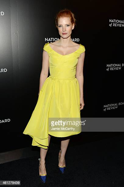 Actress Jessica Chastain attends the 2014 National Board Of Review Awards Gala at Cipriani 42nd Street on January 7 2014 in New York City