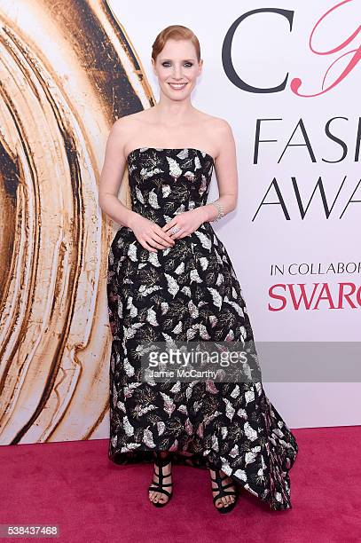 Actress Jessica Chastain attends the 2016 CFDA Fashion Awards at the Hammerstein Ballroom on June 6 2016 in New York City