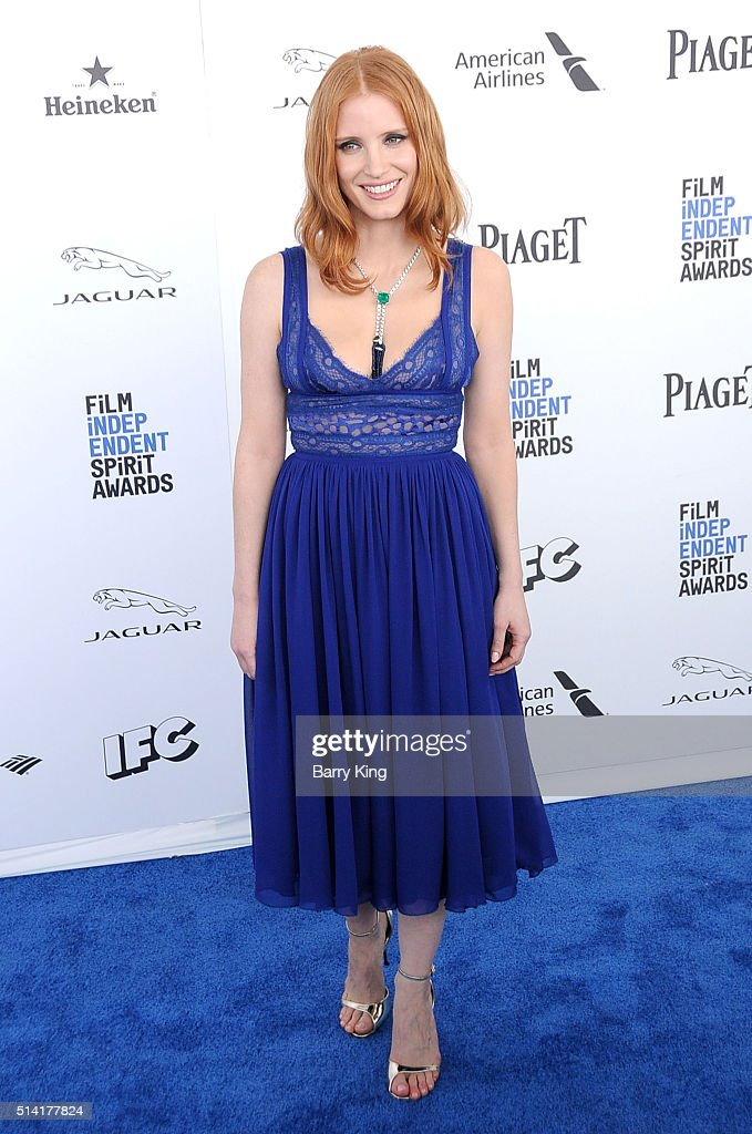 Actress Jessica Chastain attends the 2016 Film Independent Spirit Awards on February 27, 2016 in Santa Monica, California.