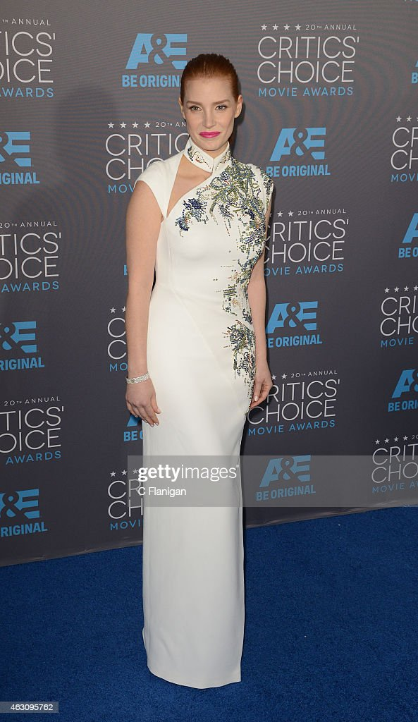 Actress Jessica Chastain attends The 20th Annual Critics' Choice Movie Awards at Hollywood Palladium on January 15, 2015 in Los Angeles, California.
