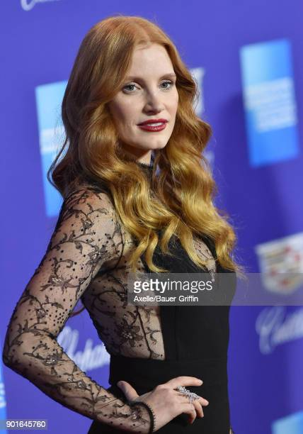 Actress Jessica Chastain attends the 29th Annual Palm Springs International Film Festival Awards Gala at Palm Springs Convention Center on January 2...