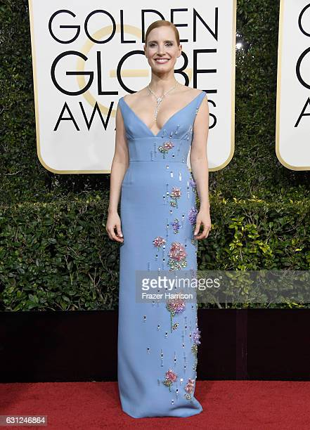 Actress Jessica Chastain attends the 74th Annual Golden Globe Awards at The Beverly Hilton Hotel on January 8 2017 in Beverly Hills California