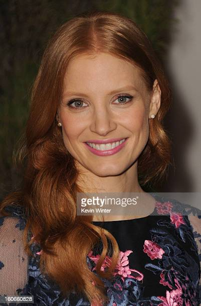 Actress Jessica Chastain attends the 85th Academy Awards Nominations Luncheon at The Beverly Hilton Hotel on February 4 2013 in Beverly Hills...