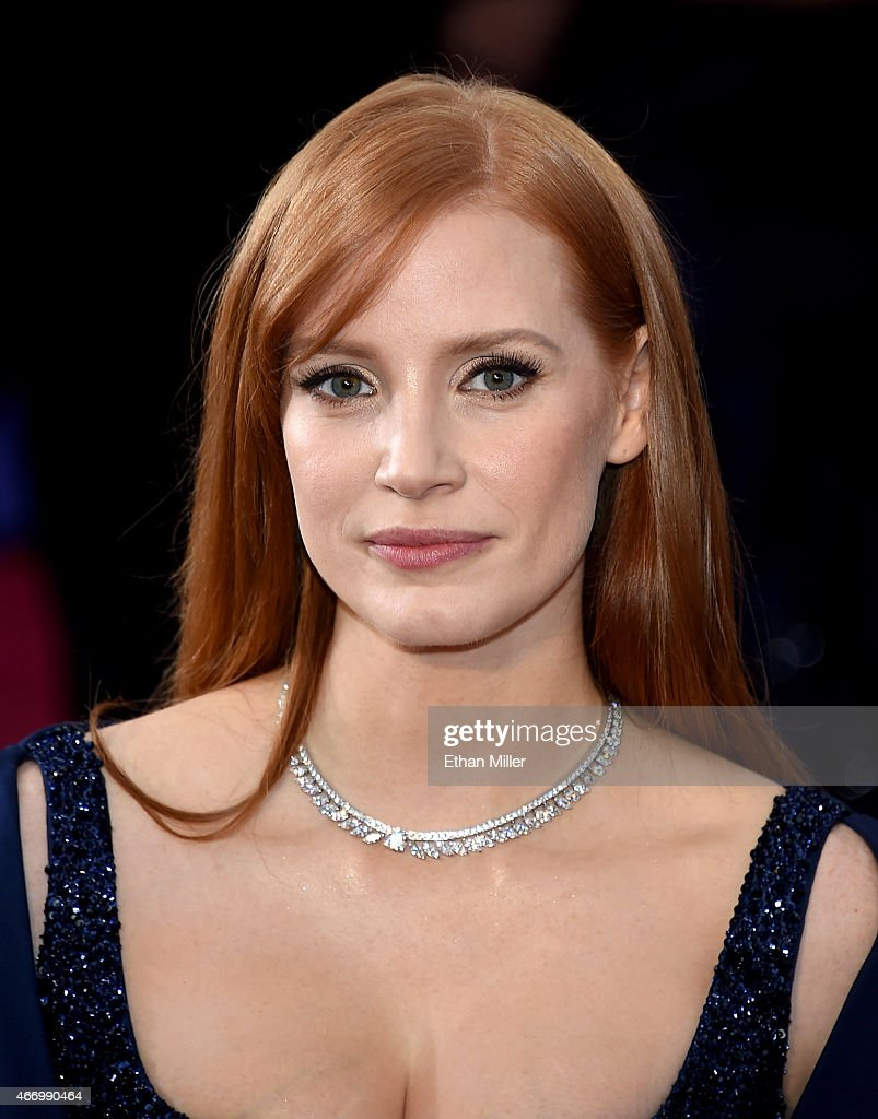 Actress Jessica Chastain attends the 87th Annual Academy Awards at Hollywood & Highland Center on February 22, 2015 in Hollywood, California.