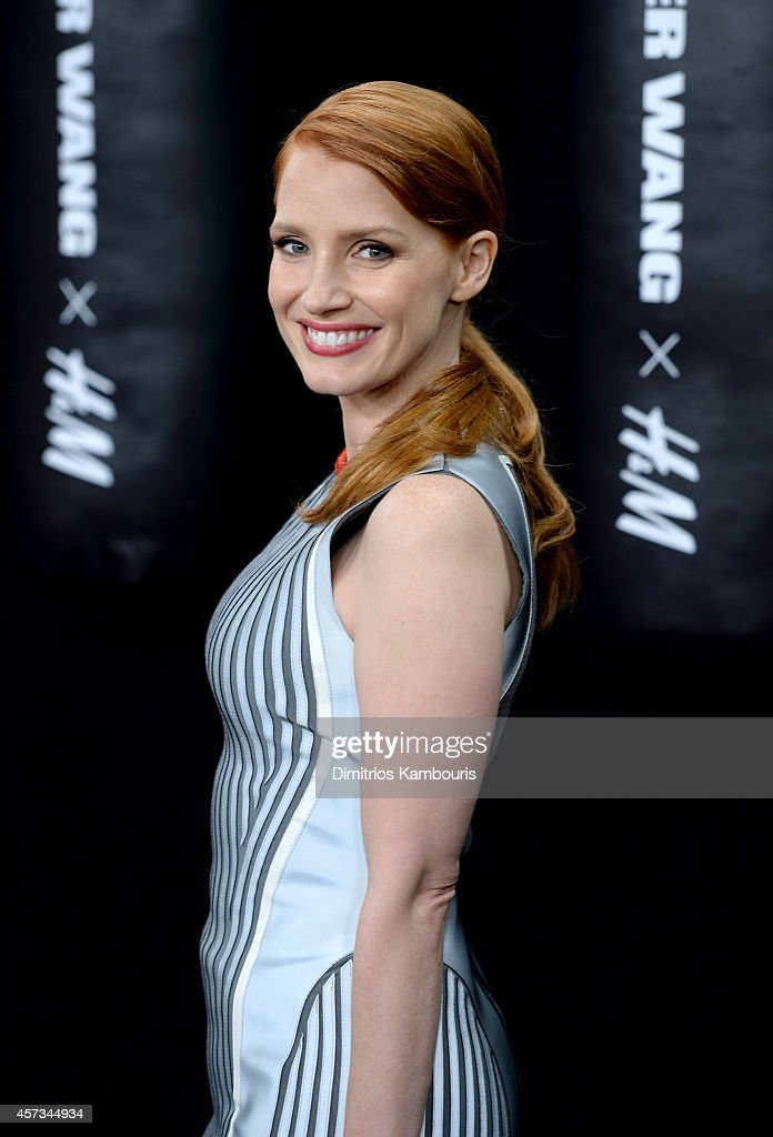 Actress Jessica Chastain attends the Alexander Wang X H&M Launch on October 16, 2014 in New York City.