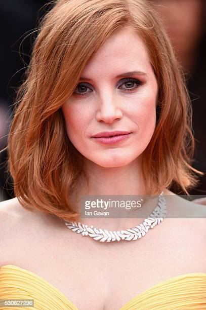 Actress Jessica Chastain attends the 'Cafe Society' premiere and the Opening Night Gala during the 69th annual Cannes Film Festival at the Palais des...