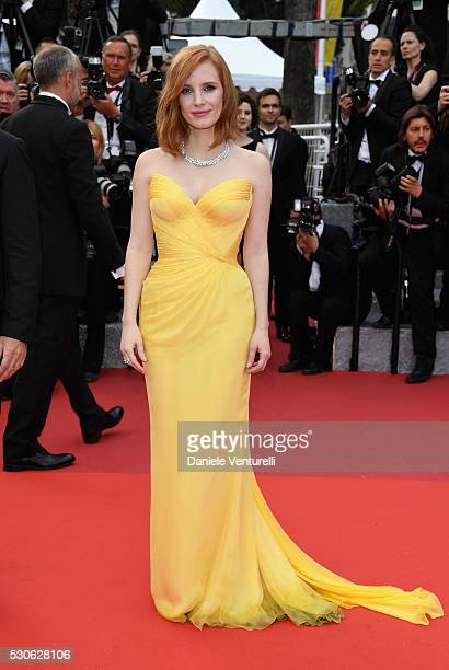 """Actress Jessica Chastain attends the """"Cafe Society"""" premiere and the Opening Night Gala during the 69th annual Cannes Film Festival at the Palais des..."""