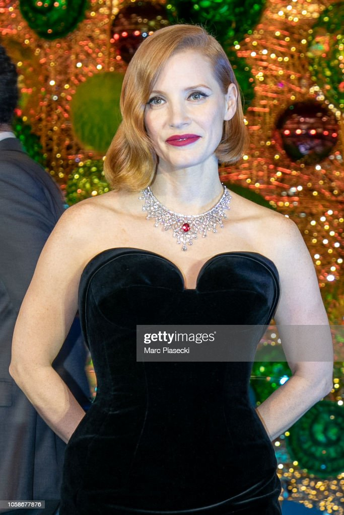 Actress Jessica Chastain attends the Christmas decorations... News ...