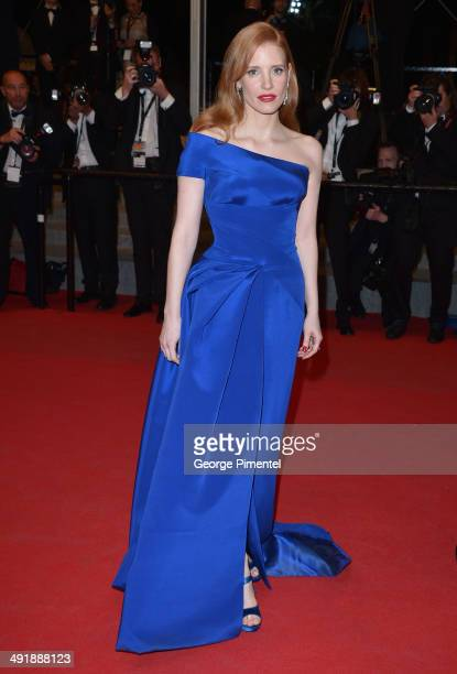 Actress Jessica Chastain attends 'The Disappearence Of Eleanor Rigby' Premiere at the 67th Annual Cannes Film Festival on May 17 2014 in Cannes France