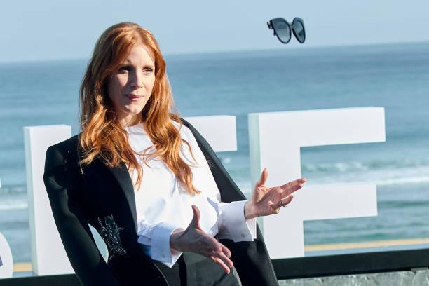 """ESP: """"The Eyes of Tammy Faye/ Los Ojos De Tammy Faye"""" Photocall - 69th San Sebastian Film Festival"""