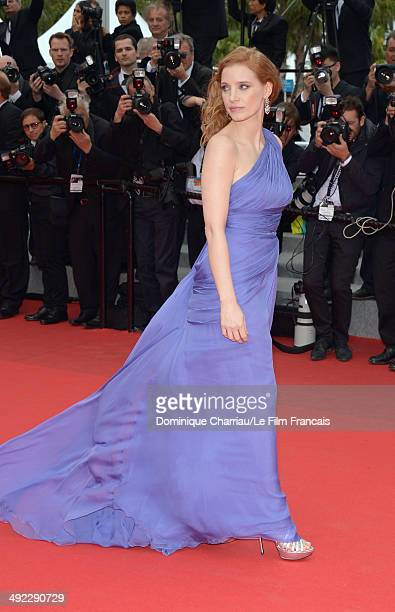 Actress Jessica Chastain attends the 'Foxcatcher' Premiere at the 67th Annual Cannes Film Festival on May 19 2014 in Cannes France