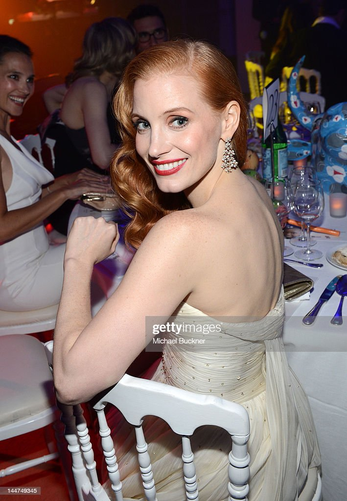 Actress Jessica Chastain attends the Haiti Carnival In Cannes Benefitting J/P HRO, Artists For Peace and Justice & Happy Hearts Fund Presented By Armani during the 65th Annual Cannes Film Festival on May 18, 2012 in Cannes, France.