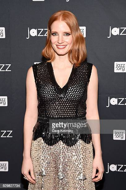 Actress Jessica Chastain attends the Jazz at Lincoln Center 2016 Gala 'Jazz and Broadway' honoring Diana and Joe Dimenna and Ahmad Jamal at Frederick...