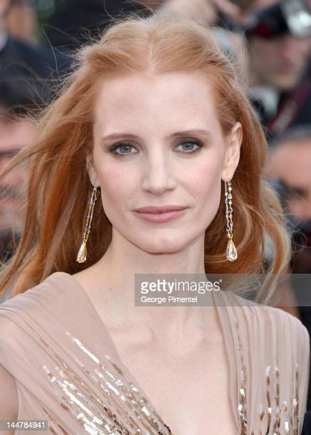 """Actress Jessica Chastain attends the """"Lawless"""" Premiere during the 65th Annual Cannes Film Festival at Palais des Festivals on May 19, 2012 in..."""