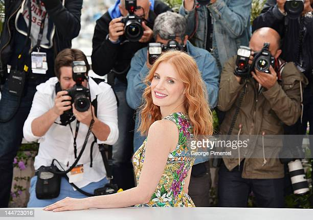 """Actress Jessica Chastain attends the """"Madagascar 3: Europe's Most Wanted"""" Photocall during the 65th Annual Cannes Film Festival at Palais des..."""