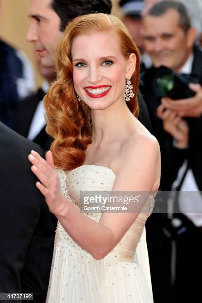 Actress Jessica Chastain attends the Madagascar 3 Europe's Most Wanted Premiere during the 65th Annual Cannes Film Festival at Palais des Festivals...