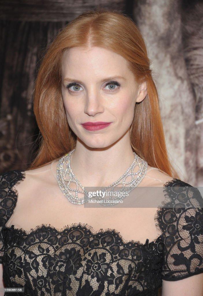 Actress Jessica Chastain attends the 'Mama' New York Screening at Landmark's Sunshine Cinema on January 7, 2013 in New York City.