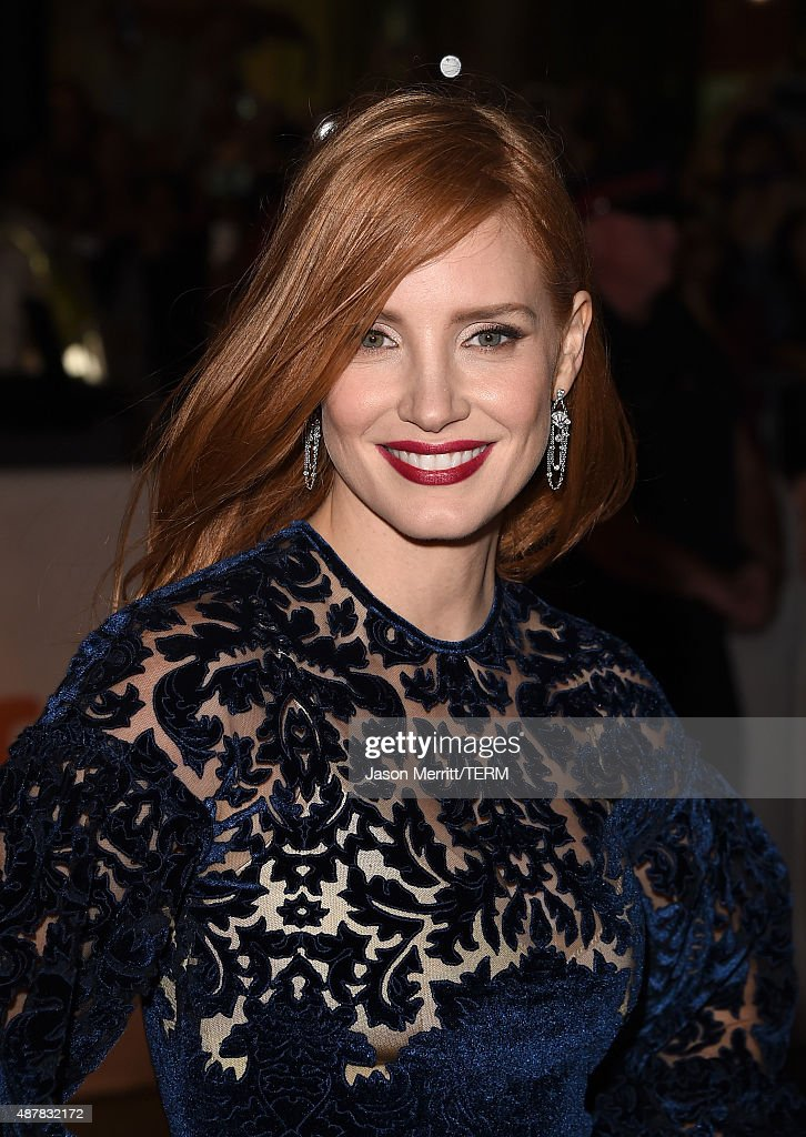 Actress Jessica Chastain attends 'The Martian' premiere during the 2015 Toronto International Film Festival at Roy Thomson Hall on September 11, 2015 in Toronto, Canada.