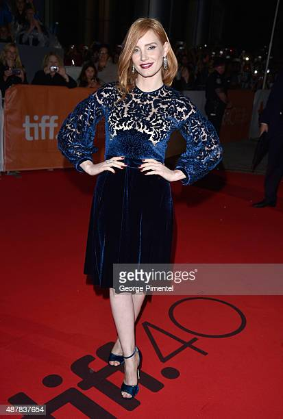 Actress Jessica Chastain attends 'The Martian' press conference during the 2015 Toronto International Film Festival at TIFF Bell Lightbox on...
