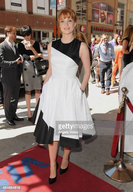 Actress Jessica Chastain attends the Miss Julie premiere during the 2014 Toronto International Film Festival at Winter Garden Theatre on September 7...