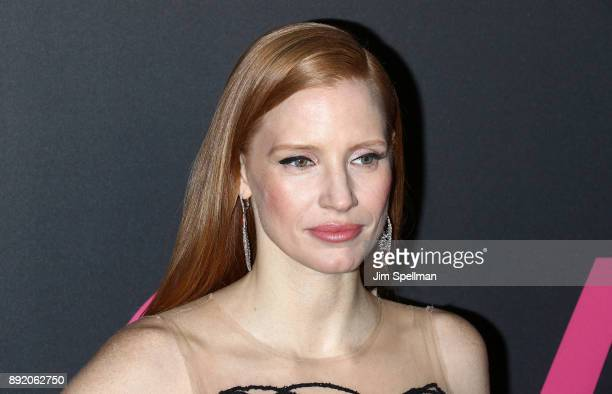 Actress Jessica Chastain attends the 'Molly's Game' New York premiere at AMC Loews Lincoln Square on December 13 2017 in New York City