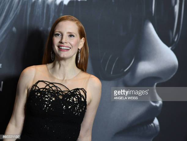 Actress Jessica Chastain attends the 'Molly's Game' New York Premiere at AMC Loews Lincoln Square on December 13 2017 in New York City / AFP PHOTO /...