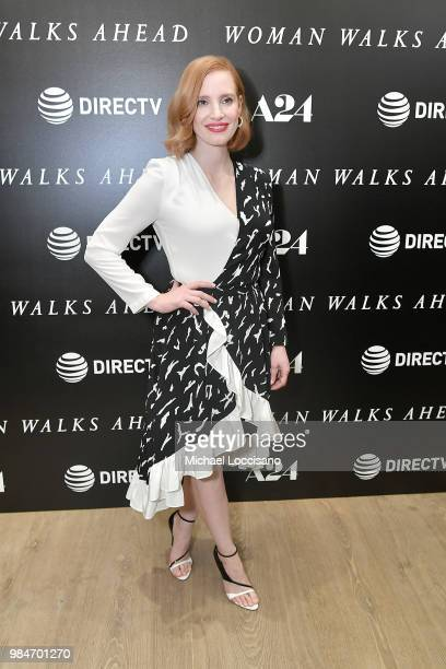 Actress Jessica Chastain attends the New York screening of Woman Walks Ahead at the Whitby Hotel on June 26 2018 in New York City