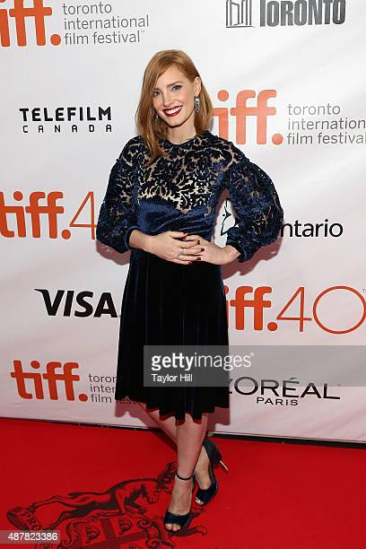 Actress Jessica Chastain attends the premiere for 'The Martian' at Roy Thomson Hall during the 2015 Toronto International Film Festival on September...
