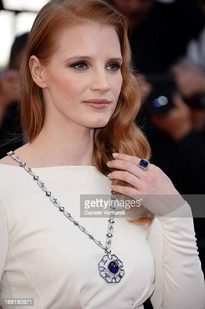 Actress Jessica Chastain attends the Premiere of 'Cleopatra' at The 66th Annual Cannes Film Festival on May 21 2013 in Cannes France