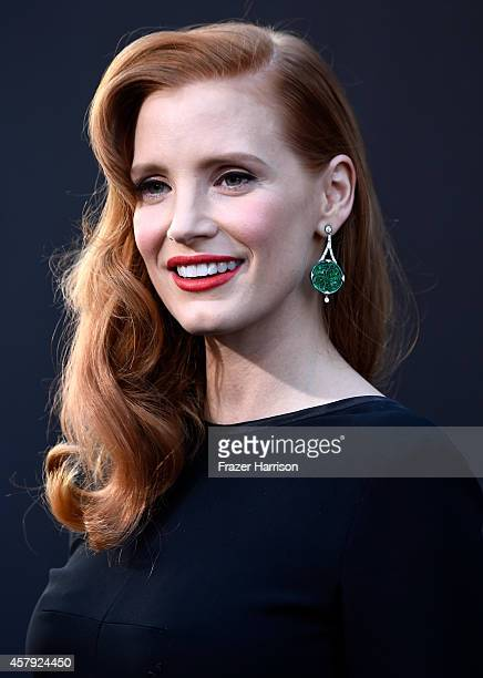 Actress Jessica Chastain attends the premiere of Paramount Pictures' Interstellar at TCL Chinese Theatre IMAX on October 26 2014 in Hollywood...