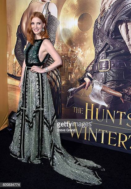 Actress Jessica Chastain attends the premiere of Universal Pictures' The Huntsman Winter's War at the Regency Village Theatre on April 11 2016 in...