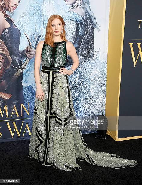 Actress Jessica Chastain attends the premiere of Universal Pictures' 'The Huntsman Winter's War' at the Regency Village Theatre on April 11 2016 in...