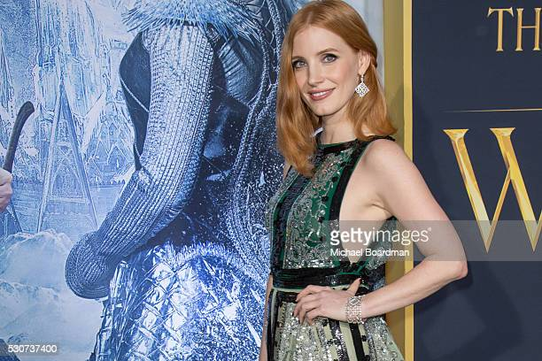 Actress Jessica Chastain attends the premiere of Universal Pictures' The Huntsman Winter's War at Regency Village Theatre on April 11 2016 in...