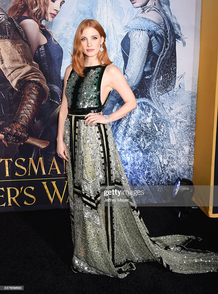 Actress Jessica Chastain attends the premiere of Universal Pictures' 'The Huntsman: Winter's War' at the Regency Village Theatre on April 11, 2016 in Westwood, California.