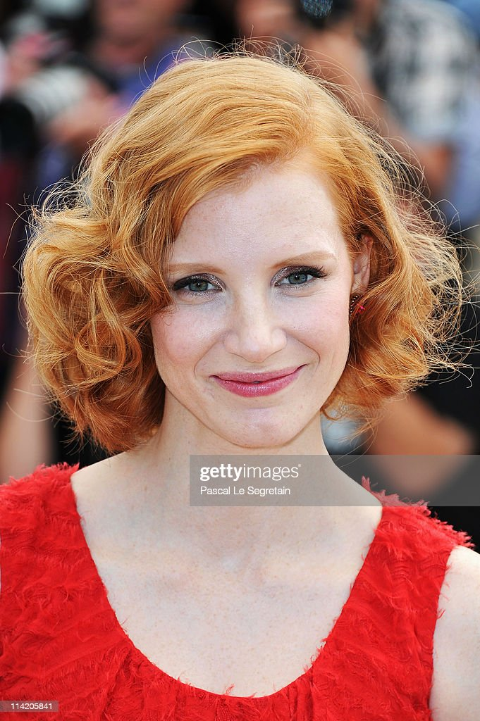 Actress Jessica Chastain attends 'The Tree Of Life' photocall during the 64th Annual Cannes Film Festival at Palais des Festivals on May 16, 2011 in Cannes, France.