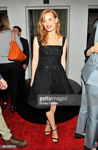 Actress Jessica Chastain attends the W Magazine celebration of the 'Best Performances' Portfolio and The Golden Globes with Cadillac and Dom Perignon...