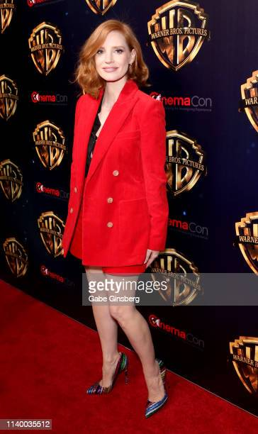 Actress Jessica Chastain attends Warner Bros Pictures The Big Picture exclusive presentation during CinemaCon at The Colosseum at Caesars Palace on...