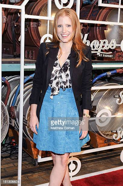 Actress Jessica Chastain celebrates The Fall Installment Of The Shops At Target at Highline Stages on September 5 2012 in New York City