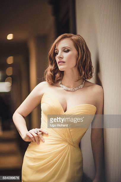 Actress Jessica Chastain is photographed for Gala on May 15 2016 in Cannes France