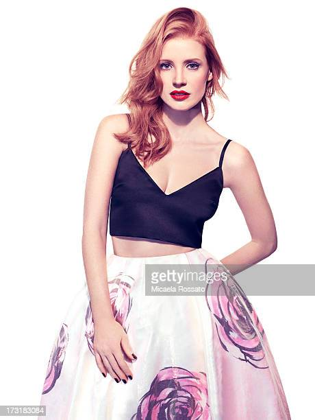 Actress Jessica Chastain is photographed for InStyle Magazine UK on November 12 2012 in New York City