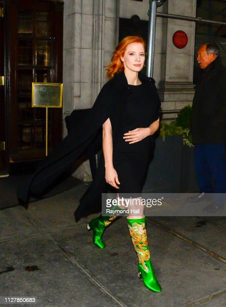 Actress Jessica Chastain is seen in Manhattan on February 27 2019 in New York City