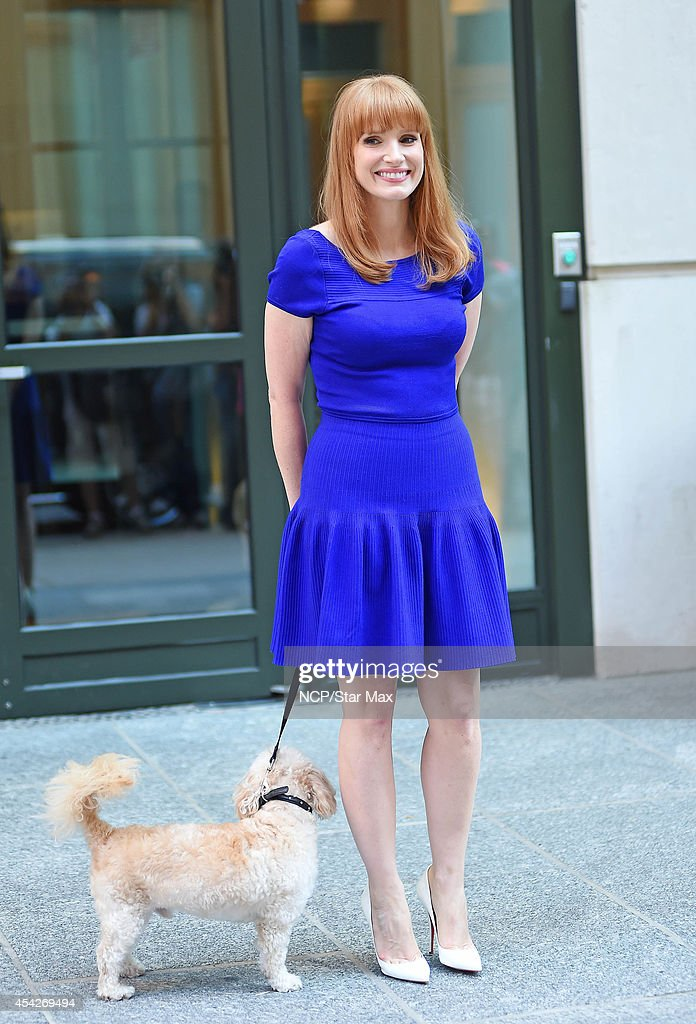 Actress Jessica Chastain is seen on August 27, 2014 in New York City.