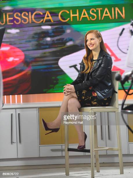 Actress Jessica Chastain is seen on the set of the Today Show on December 15 2017 in New York City